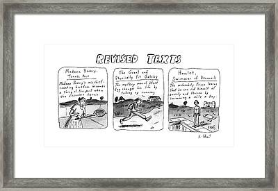 Revised Texts Framed Print by Roz Chast