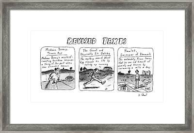 Revised Texts Framed Print