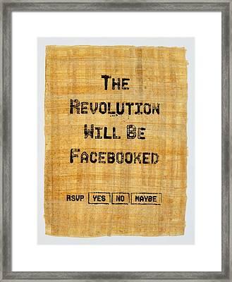 Revolution 2011 Framed Print by Jonathan Morgan