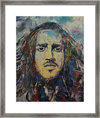 John Frusciante Framed Print by Michael Creese