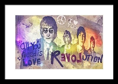 George Harrison Rock N Roll Framed Prints