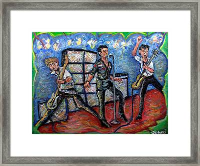 Revolution Rock The Clash Framed Print