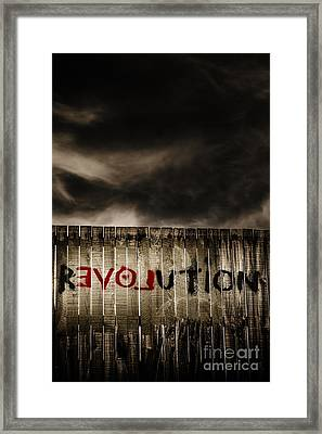 Revolution. The Writings Is On The Wall Framed Print by Jorgo Photography - Wall Art Gallery