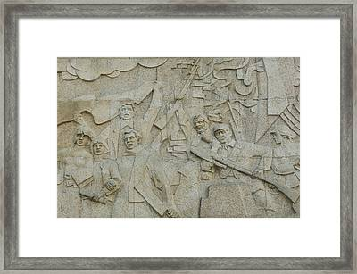 Revolutionary Frieze In Huangpu Park Framed Print by Panoramic Images