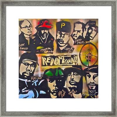 Revolutionary Hip Hop Framed Print by Tony B Conscious
