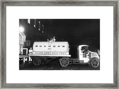 Revolutionary Milk Transport Framed Print by Underwood Archives