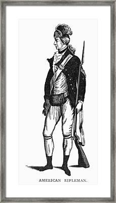 Revolutionary War Rifleman Framed Print by Granger