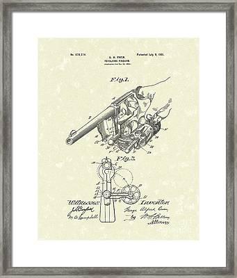 Revolver 1901 Patent Art Framed Print