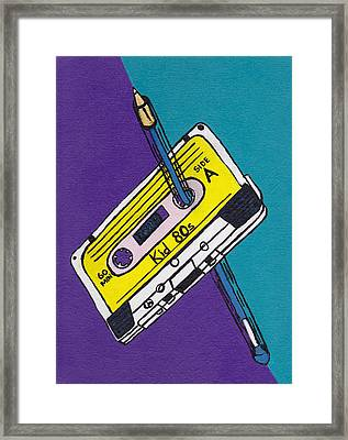 Rewind To The 80s Framed Print