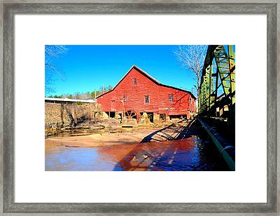 Rex Mill On Big Cotton Indian Creek Framed Print by James Potts
