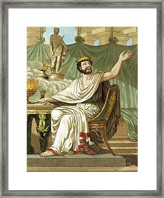 Rex Sacrificulus, Illustration Framed Print by Jacques Grasset de Saint-Sauveur