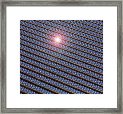 Reydon Solar Farm Framed Print by Victor De Schwanberg