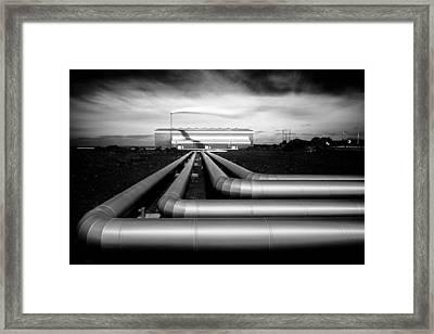 Reykjanesvirkjun Framed Print by Dave Bowman