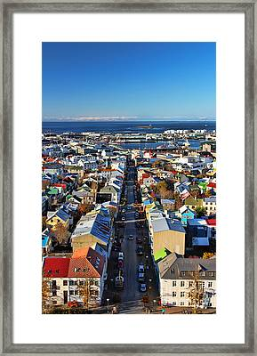 Reykjavik Cityscape Framed Print
