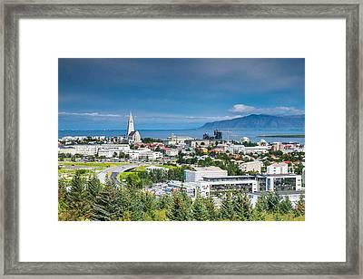 Reykjavik Iceland Panorama Framed Print by Cliff C Morris Jr