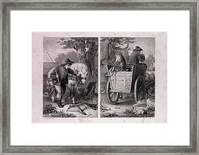 Reynard And The Fish Cart Framed Print by English School