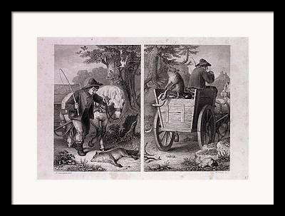 Fish Cart Framed Prints