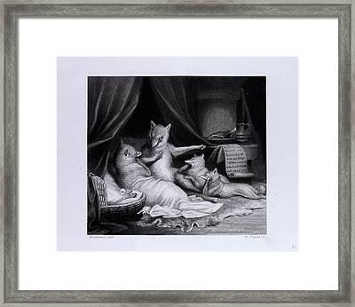 Reynard Relating His Adventures Framed Print by English School
