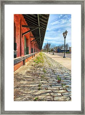 Reynolds Street View - Southern Railway Depot In Augusta Framed Print by Mark E Tisdale