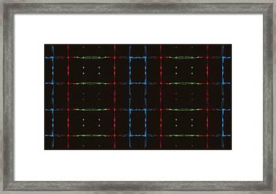 Rgb Network Framed Print