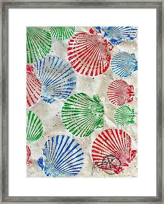 Rgb - Scallop Beach Framed Print