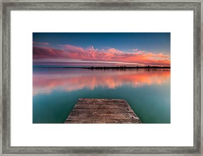 Rgb Sunset Framed Print by Davorin Mance