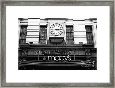 R.h. Macy And Co. Mono Framed Print by John Rizzuto