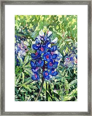Rhapsody In Blue Framed Print by Hailey E Herrera
