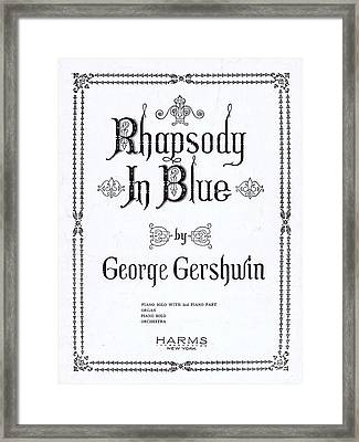 Rhapsody In Blue Framed Print by Mel Thompson