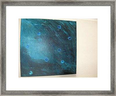 Rhapsody In Blue Framed Print