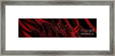 Rhapsody In Red H - Panorama - Abstract - Fractal Art Framed Print