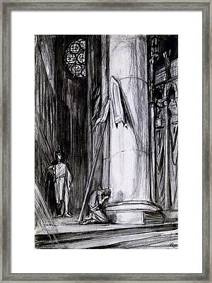 Rheims Cathedral, Scene From St Joan Framed Print