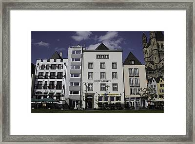 Rhein Hotel Cologne Framed Print by Teresa Mucha
