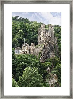 Rheinstein Castle Framed Print by Oscar Gutierrez