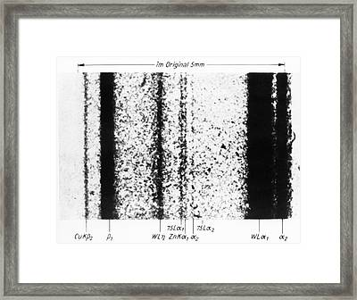 Rhenium Spectral Lines Framed Print by Emilio Segre Visual Archives/american Institute Of Physics