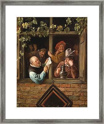 Rhetoricians At A Window Framed Print