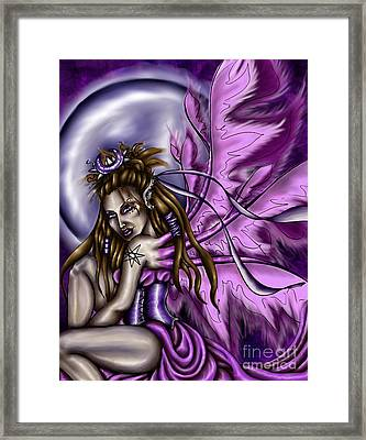Rhiannon's Shadow Framed Print by Coriander  Shea