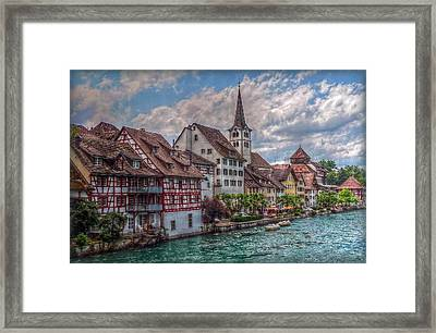 Rhine Bank Framed Print by Hanny Heim