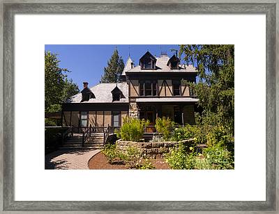 Rhine House At Beringer Winery St Helena Napa California Dsc1724 Framed Print by Wingsdomain Art and Photography