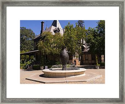 Rhine House At Beringer Winery St Helena Napa California Dsc1728 Framed Print by Wingsdomain Art and Photography