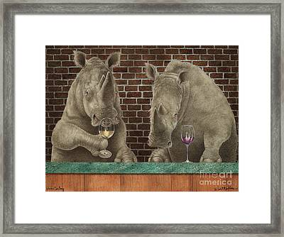 Rhine Tasting... Framed Print by Will Bullas