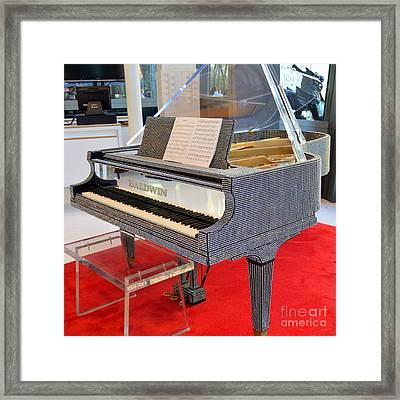 Rhinestone Piano Framed Print by Mary Deal