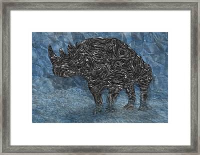 Rhino 5 Framed Print by Jack Zulli