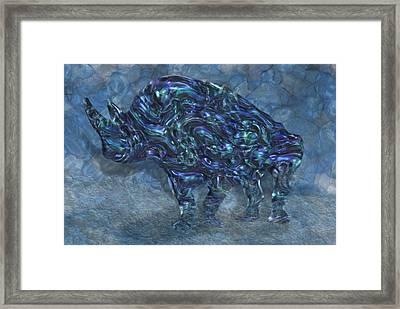 Rhino 6 Framed Print