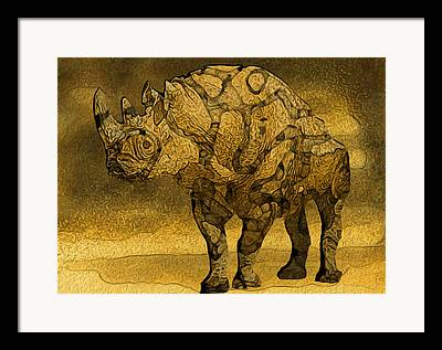 Rhinocerotidae Framed Prints