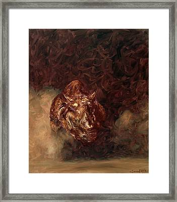 Rhino Charger Heaven Framed Print by Sarah Soward