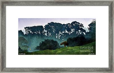 Rhino In The Rough... Framed Print by Will Bullas