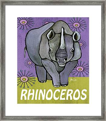 Rhino Print Framed Print by Shanni Welsh