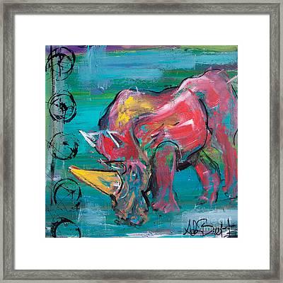 Rhino - Wisdom Framed Print