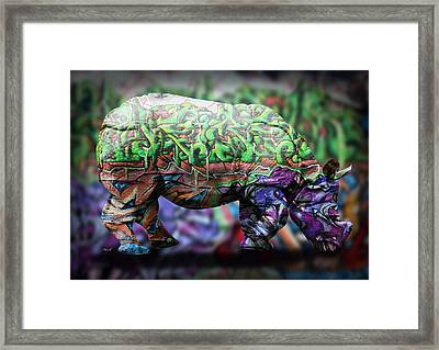 Rhino4 Framed Print by Mark Ashkenazi